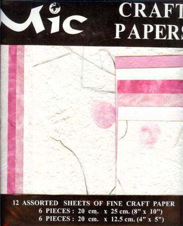 12 Sheets of High Quality Fine Wedding Pink Craft Paper